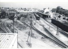 Memória da Curitiba Urbana. Estação Ferroviária de Curitiba (Rede de Viação Paraná-Santa Catarina) - Anos 50.