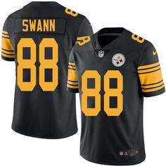 #NikeSteelers #88 #Lynn #Swann Black Men's #Stitched #NFL Limited #RushJersey