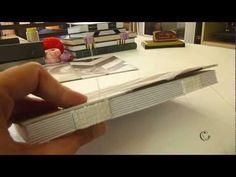 Encuadernación de libros 3 Las tapas - YouTube