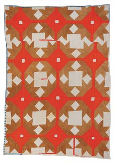 "Lottie Pettway, ""Doves of the Window"" variation, c. 1975, cotton and corduroy…"