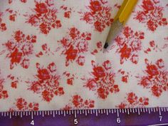 Dollhouse Miniature Victorian UPHOLSTERY FABRIC Shabby Chic Red Roses 1200 Via Etsy