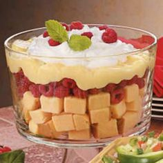 Five-Minute Trifle -  Wouldn't it be easier to just slice the pound cake and put the rest over it?