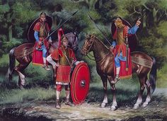 """""""Decurion and troopers of a cavalry ala, 3rd century AD"""""""