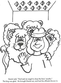 daniel in the lions den color page bible story color page ... - Bible Story Coloring Pages Daniel