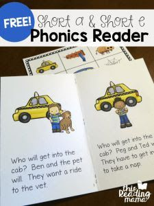 Learn to Read Short a & Short e Phonics Reader - This Reading Mama Phonics Books, Abc Phonics, Phonics Reading, Jolly Phonics, Teaching Phonics, Guided Reading, Reading Comprehension, Phonics Sounds, Close Reading