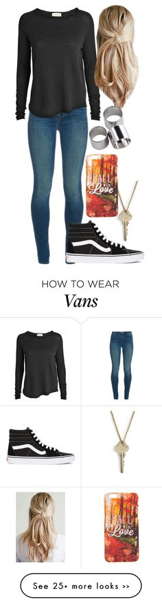 """Fall In Love"" by stepupdancer on Polyvore featuring The Giving Keys, J Brand, American Vintage, MTWTFSS Weekday and Vans"