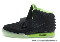Nike Air Yeezy II Men Shoes Black Green Outlet