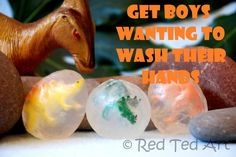 Easy soap making (non of that nasty lye stuff..) AND a fun way to get kids involved and washing their hands!