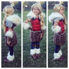 Costume guide for astrid of the second movie of how to train your homemade halloween kids group costume how to train your dragon 2 hiccup astrid toothless stormfly ccuart Choice Image