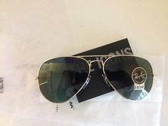 Ray Ban L 0205 Aviator Green Lenses / Arista Gold Frame New 100%
