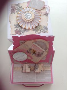 Drawer card in a box using Craftwork Cards paper couture collection