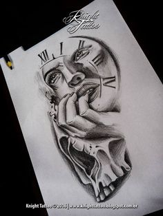 #skull #woman #surreal #tattooart #tattoodesign #blackanfgrey