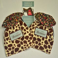 Giraffe Saddle Savers with printed fabric lining