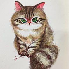 노르웨이숲냥냥이 🌳🌲🐈🌲🌳#cat #drawing #childrenillustration #colorpencil #illustration #illustrator #artwork #doodle #animals #cat #bangalcat #그림 #일러스트 #드로잉 #삽화 #캐릭터 #고양이 #노르웨이숲고양이 #norwegianforestcat Bird, Drawings, Illustration, Artwork, Animals, Work Of Art, Animales, Auguste Rodin Artwork, Animaux