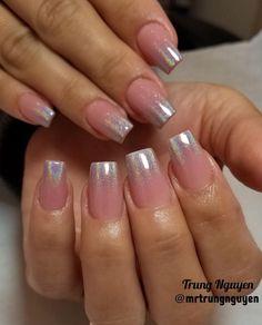 "Trung Nguyen on Instagram: ""Cute short nails  #chromenails #allacrylic #coloracrylic #nails #nailsaddict #nailsonfleek #nailswag #nailstagram #nailfashion…"""
