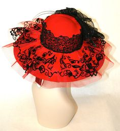 Cool red and black church hat. Auction on ebay ends tonight! 3/18/12