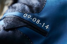 Save the date! Personalized detail inside your wedding suit. Mond of Copenhagen