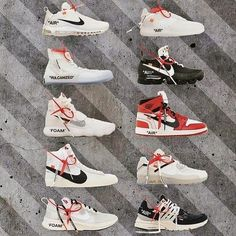 """""""What's your best Off White x Nike collab? """" Sole Trees designs high quality premium shoe trees for sneakers that reverse and minimize creasing and help maintain original shape when not being worn Off White スニーカー, Off White Shoes, Sneaker Art, Sneaker Boots, Sweatshirts Nike, Nike Trainer, Hypebeast, Zapatillas Nike Jordan, Sneakers Fashion"""