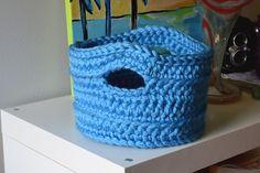Crochet in Color: Otra versión de la Canasta Chunky