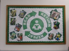 """Read Return Repeat"" Bulletin Board 