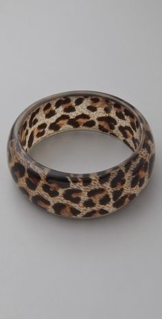 Kenneth Jay Lane Leopard Print Bangle {Style #:KJLAN40191} $27.00