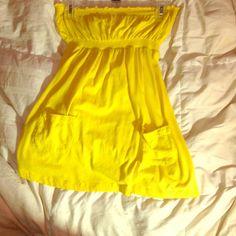Yellow tube top. Sooo comfortable!! Tops
