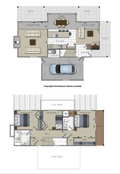 Modular homes - add modules to the initial floor plan to create your dream home. Guest House Plans, House Floor Plans, Austin Homes, Garage Apartments, Eco Friendly House, Modular Homes, Carriage House, Smart Home, Building A House