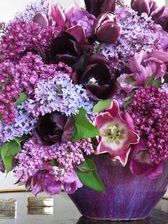 Gorgeous lilacs ~ tulips ~ •✿•