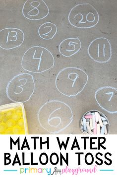 Math Water Balloon Toss - Water Balloons - Ideas of Water Balloons Kindergarten Math Activities, Math Classroom, Fun Math, Learning Activities, Preschool Activities, Maths Eyfs, Math Math, Math Help, Math Fractions