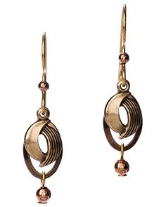 Hammered Layered Swirl Brasstone Swirl Earrings by Silver Forest -- Be sure to check out this awesome product.(This is an Amazon affiliate link and I receive a commission for the sales)