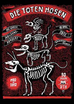 Die Toten Hosen - das grosse Jubiläumskonzert in Bremen. Der Tot, Film Music Books, Good Music, Rock, Concert, Illustration, Posters, Art, Metal