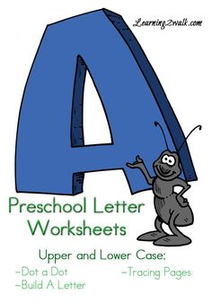 Preschool Letter Worksheets for letter A that I created for my daughter as one of our many preschool letter activities.