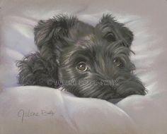 Schnauzer Art  Black Schnauzer  Dog Art by ArtByJulene on Etsy