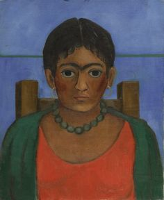 Frida Kahlo Painting Rediscovered after 60 Years. Frida Kahlo, Niña con collar, Image courtesy of Sotheby's. Diego Rivera, Modern Art, Contemporary Art, Frida Kahlo Portraits, Kahlo Paintings, Frida And Diego, Art Terms, Mexico Art, Mexican Artists