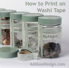 Ashbee Design: How to Print on Washi Tape