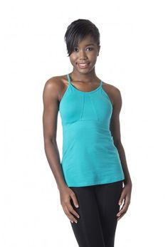 Advance Tank Women's Workout and Yoga Shirt in Baltic
