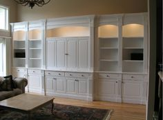 Built In Living Room Cabinets : Habitar. Built In Tv Cabinet, Library Cabinet, Tv Built In, Built In Bookcase, Built In Cabinets, Tv Cabinets, Custom Cabinets, White Cabinets, Built Ins