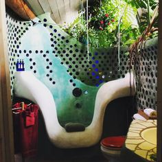 """1,243 Likes, 14 Comments - Earthship Biotecture (@earthship) on Instagram: """"Phoenix Earthship shower. Stay the night and take a shower in filtered, solar-heated, rain water.…"""""""