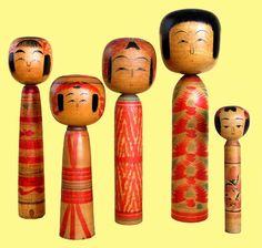 Kokeshi, traditional, Hiziori