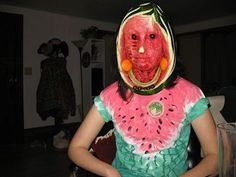 """WTF Wednesdays: Cringey & Cursed Posts For Brave Souls - Funny memes that """"GET IT"""" and want you to too. Get the latest funniest memes and keep up what is going on in the meme-o-sphere. Watermelon Face, Watermelon Carving, Carved Watermelon, Watermelon Costume, Reaction Pictures, Funny Pictures, Creepy Pictures, Cursed Images, Stupid Memes"""