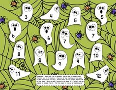 FREE!  Boo Bump Addition and Multiplication Games