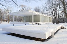 Farnsworth House - Mies van der Rohe #snow