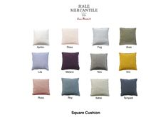 Flocca square linen cushion product sheet