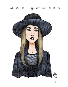 My illustration of Taissa Farmiga's character on American Horror Story: Coven. Drawn in pen and painted in Photoshop.