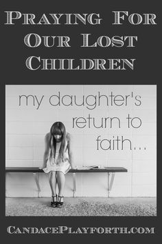 Watching our kids wander from their faith can be devastating. We can help them return to God by praying for our lost children on a daily basis and asking others to as well. Find comfort, inspiration, and the encouraging story of my daughter's salvation here…