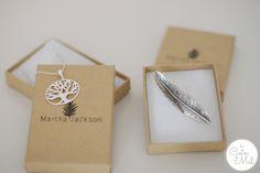 Martha Jackson tree necklace & Feather Brooch