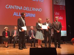Franco and Marilisa Allegrini accept the Winery of the Year award from Gambero Rosso
