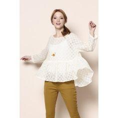 Ecru Gyoza blouse   DES PETITS HAUTS Gyoza 41dbbc814