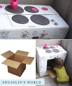 картонена печка за игра