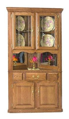 Country Marketplace - Solid Oak Corner Hutch,    (http://www.countrymarketplaces.com/products/Solid-Oak-Corner-Hutch.html)